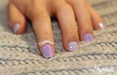 PASO A PASO EN MI BLOG! #knitnails #nailart #uñasdecoradas #notd #npa
