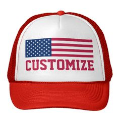 Show off your patriotism with our custom Customized Patriotic American Flag Trucker Hat.Create your own photo trucker hat. Use the design tool to upload your art, designs, or photos to create a unique photo trucker hat! You can also add text using cool fonts and see a preview of your creation!