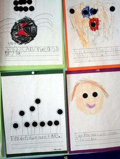 Kindergarten dot pictures.