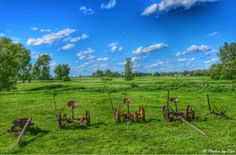 Old farming equipment in Pipestone, Minnesota...photo by Cyn...June 15' 2014
