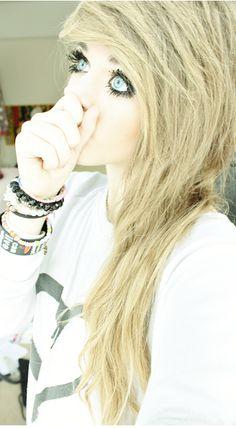 #blonde #dyed #scene #hair #pretty
