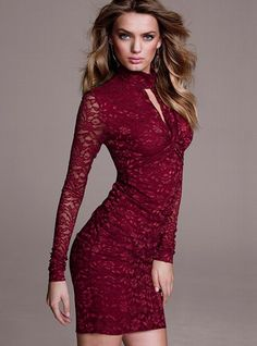 NEW! Knot Front Lace Dress #VictoriasSecret http://www.victoriassecret.com/clothing/dresses/knot-front-lace-dress?ProductID=74460=OLS?cm_mmc=pinterest-_-product-_-x-_-x