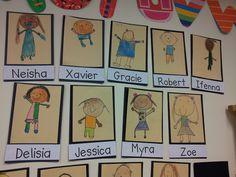 Chalk Talk: A Kindergarten Blog: Self-Portraits
