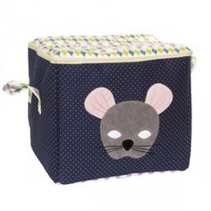 Handige opbergbox Mouse / Navy dots -Kokkie