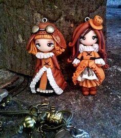 Polymer clay Steampunk darlings.: