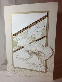 Stampin Up! Ideas & Supplies ~ Love the idea of incorporating vintage buttons, lace and linen threads!