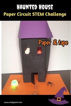 What's more spooktackular than a haunted house? One that your students make while learning the basics of circuits! All you need is some paper, tape, copper tape, LEDs, and coin cell batteries. Then create your creepy castle or cottage. Check out the video above for a haunted house with a lit up window ghost and jack-o-lantern that includes two LED lights in a series circuit. Perfect Halloween STEM Activity for elementary and above! Halloween Haunted Houses, Spooky Halloween, Teaching Strategies, Teaching Tips, List Of Resources, School Levels, Get Educated, Stem Challenges, Project Based Learning