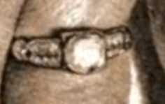 Bonnie's wedding ring (from her marriage to Roy Thornton), which she was wearing when she was killed Bonnie Parker, Bonnie Clyde, Famous Outlaws, Elizabeth Parker, True Crime, Old Pictures, Wedding Ring, Public Enemies, Odd Stuff