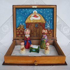 Conjunto de Navidad Natividad caja libro por UnderAngelWings