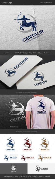 Centaur Archery Logo Template Vector EPS, AI Illustrator. Download here: https://graphicriver.net/item/centaur-archery-logo/17339346?ref=ksioks