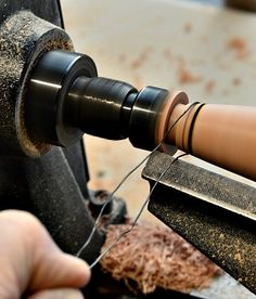 Woodturning - second burn line ready