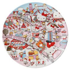 Hello Kitty melamine plate (amusement park) Sanrio online shop - official mail order site
