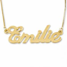 Personalized 14K Gold Name Necklace.