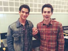 Tyler Posey and Dylan O'Brien on the set of Teen Wolf Season 5!