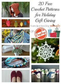 20 Free #Crochet Patterns for Holiday Giving on Craftsy! :D