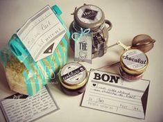 Etiquettes gratuites à imprimer, Noël, calendrier de l'avent, cadeaux diy et gourmands, free printable retro labels for diy treats and presents
