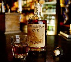 Templeton Rye whiskey. Very smooth subtle flavor.