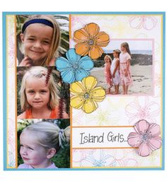 Island Girls Scrapbook Page : new projects :  Shop | Joann.com