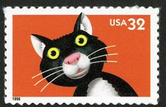 US 32c cat postage stamp - 1998