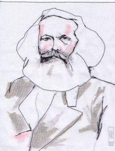 Stitched by Rick: Stitched Portraits: Karl Marx
