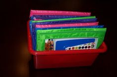 Some great bag ideas to keep kids occupied. I love the idea of using pencil pouches