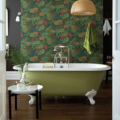 Army green is a very restful colour which combines really well with wood and other natural materials such as wicker, bamboo and sea grass. It looks fabulous against a strong contrasting white, tangerine orange or purple. And it also provides the perfect backdrop for dark green foliage or more acid green shades