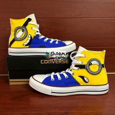 Minions Converse Shoes Despicable Me Hand Painted Canvas Sneakers