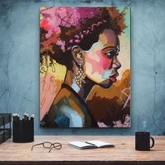 Art of African-American female beauty, African art, canvas decoration for the living room, wall African American Artwork, African American Women, African Art, American Artists, The Computer, Black Women Art, Art Women, Wall Art For Sale, Black Artists