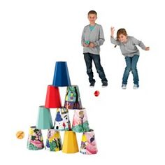 IKEA - LATTJO, Throwing game, Trying to hit targets helps develop a child's ability to estimate distances and coordinate movements.A fun game that children and adults can play together on the same terms.Easy to store since the cones are stackable.