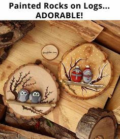 Rock Painting and Wood Backdrop