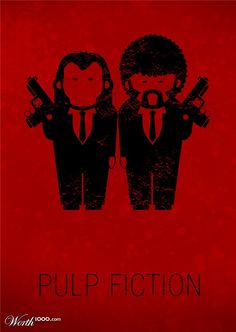 Funny drawing of Pulp Fiction Pulp Fiction, Film Science Fiction, Fiction Movies, Minimal Movie Posters, Cinema Posters, Pop Art, Tarantino Films, Quentin Tarantino, Poster Minimalista