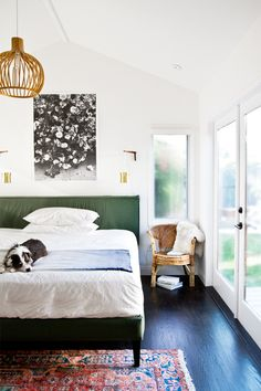 I've noticed these items showing up more as I peruse stores and magazines, which leads me to believe that these 2015 interior design trends are here to stay Bedroom Green, Home Bedroom, Bedroom Decor, Master Bedroom, Bedroom Ideas, Bedroom Lamps, Wall Lamps, Bedroom Lighting, Bedroom Apartment