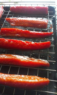 candied salmon only use cup salt Smoked Salmon Brine, Smoked Salmon Recipes, Trout Recipes, Jerky Recipes, Smoked Trout, Smoked Fish, Seafood Recipes, Traeger Recipes, Tilapia Recipes