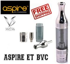 Aspire ET BVC clearomizer with free postage only at www.vapsol.com.au