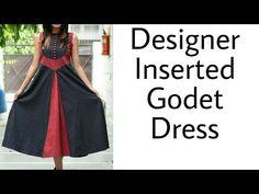 Designer Godet Tunic (Cutting & Stitching) - YouTube