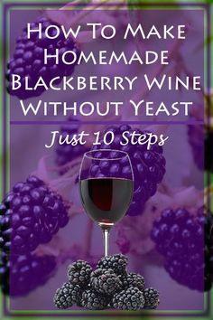 If you love to make wine at home check out how you can make blackberry wine without yeast in just 10 steps. Making this blackberry wine at home is easy and rewarding and something you can enjoy with family and friends. - Wine - Ideas of Wine Homemade Wine Recipes, Homemade Alcohol, Homemade Liquor, Wine And Liquor, Wine And Beer, Wine Drinks, Alcoholic Drinks, Cocktails, Beverages
