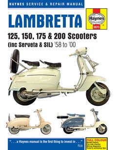 Haynes M5573 Repair Manual for 1958-00 Lambretta 125, 150, 175 and 200 Scooters (includes Serveta & SIL)