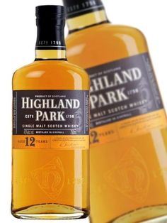 Highland Park Scotch 15 Year is an exceptionally fine whisky that builds on the world-class reputation already enjoyed by the 12 Year Old, added to which the rich, mature oak makes a truly smooth and satisfying malt. Whiskey Bottle, Vodka Bottle, Top Drinks, Cigar Bar, Single Malt Whisky, Scotch Whisky, 12 Year Old, Personal Care, Park