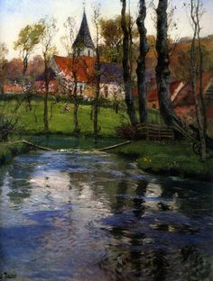 Image result for Fritz Thaulow old church