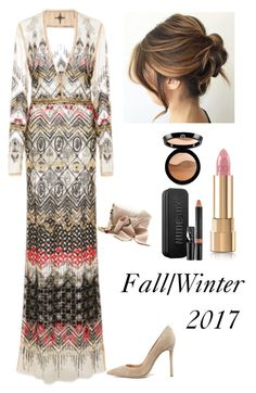 """The Trend for Fall/Winter"" by kotnourka ❤ liked on Polyvore featuring Gianvito Rossi, Nudestix, Oscar de la Renta, Dolce&Gabbana and Giorgio Armani"