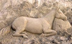 Sand Horse, Dubai Marine by PippaMurphy, via Flickr