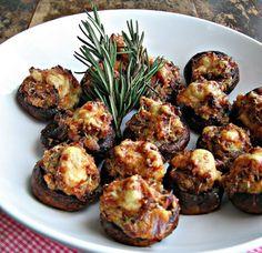 Italian Sausage and Asiago Cheese Stuffed Mushrooms