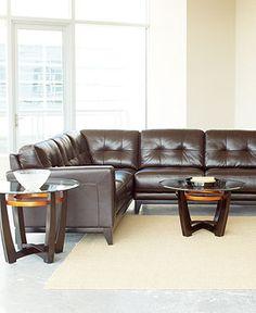stefano leather sectional macyu0027s - Macys Living Room Furniture