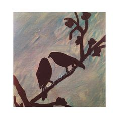 Finally tried a DIY bird painting on canvas