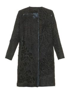 Vintage A-line embroidered silk coat | By Walid | MATCHESFASHION.COM US