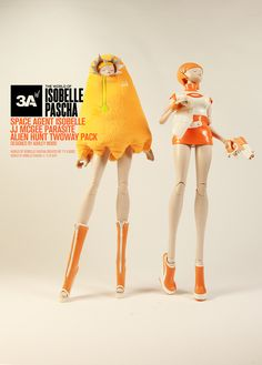 The World Of Isobelle Pascha Space Agent Isobelle JJ McGee Parasite Alient Hunt Twoway Pack.  http://www.worldofthreea.com/threea-production-blog/spwlrdzqphxfw0qx4c70cruqgg5ucr #threeA #AshleyWood