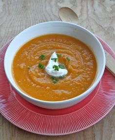 butternut squash soup: crockpot recipe