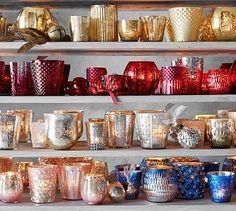Eclectic Mercury Votives #potterybarn