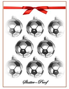 2016 Soccer Christmas Holiday Sports Ornament  8PackShatterproof >>> Learn more by visiting the image link.  This link participates in Amazon Service LLC Associates Program, a program designed to let participant earn advertising fees by advertising and linking to Amazon.com.
