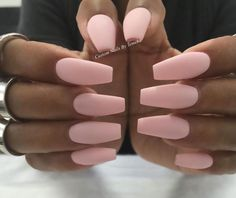 Matte Pink Shellac Nails under Nail Care Grand Prairie Tx; Matte Brown Nails With Glitter so Nail Care Routine For Peeling Nails Gorgeous Nails, Love Nails, Pretty Nails, My Nails, Acrylic Nails Coffin Matte, Plain Acrylic Nails, Baby Pink Nails Acrylic, Pink Shellac, Matte Nails Glitter